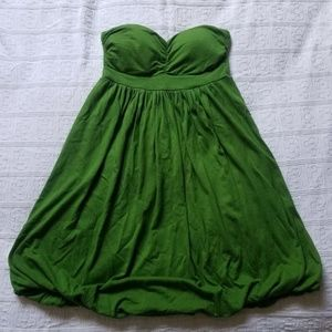 Forever 21 | Green Strapless Dress | Size Small